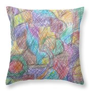 Abstract 801 Throw Pillow