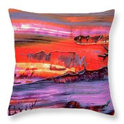 Abstract 9032 Throw Pillow
