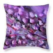 Abstract 91 Digital Oil Painting On Canvas Full Of Texture And Brig Throw Pillow