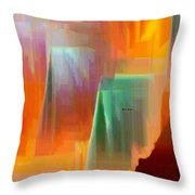 Abstract 9364 Throw Pillow