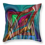 Abstract 9554 Throw Pillow