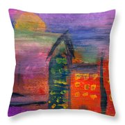 Abstract - Acrylic - Lost In The City Throw Pillow