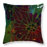 Abstract Acrylic Painting Colorful Spring I Throw Pillow