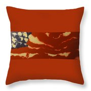 Abstract American Flag - Red, White And Blue The Star Spangled Banner Throw Pillow by Adam Asar