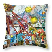 Abstract Amusement Park Throw Pillow