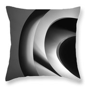 Abstract Architectural Ceiling, Curves And Round Lines Throw Pillow