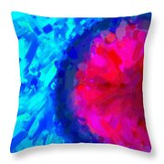 Abstract Art Combination - The Pink Martian Crater, Ca 2017, By Adam Asar ,  In 3d Watercolor Throw Pillow