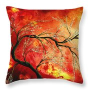 Abstract Art Floral Tree Landscape Painting Fresh Blossoms By Madart Throw Pillow