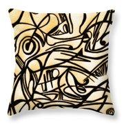 Abstract Art Gold 2 Throw Pillow