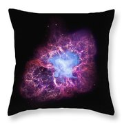 Abstract Heavenly Art - The Crab Nebula Throw Pillow