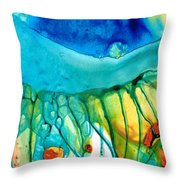 Abstract Art - Journey To Color - Sharon Cummings Throw Pillow