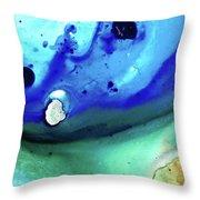 Abstract Art - Making Waves - Sharon Cummings Throw Pillow