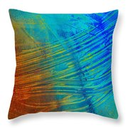 Abstract Art  Painting Freefall By Ann Powell Throw Pillow