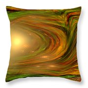 Abstract Art -the Core By Rgiada Throw Pillow