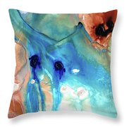 Abstract Art - The Journey Home - Sharon Cummings Throw Pillow