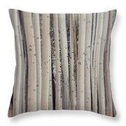 Abstract Aspen Tree Trunks Throw Pillow