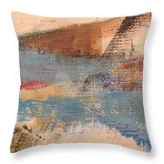 Abstract At Sea 2 Throw Pillow