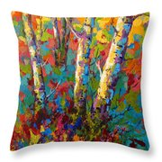 Abstract Autumn II Throw Pillow