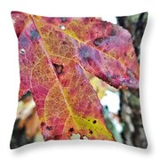 Abstract Autumn Leaf 2 Throw Pillow