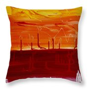 Abstract B-14 Throw Pillow