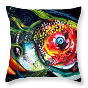 Abstract Baboon Fish Throw Pillow