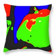 Abstract Baby Apple Throw Pillow