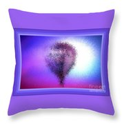 Abstract Balloon In Sky Throw Pillow
