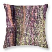 Abstract Bark 3 Throw Pillow