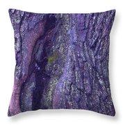 Abstract Bark 5 Throw Pillow