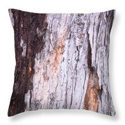 Abstract Bark 8 Throw Pillow