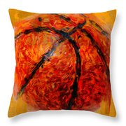 Abstract Basketball Throw Pillow by David G Paul