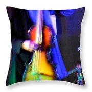 Abstract Bass Player. Throw Pillow