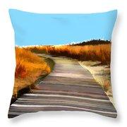 Abstract Beach Dune Boardwalk Throw Pillow