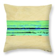 Abstract Beach Landscape  Throw Pillow