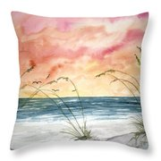 Abstract Beach Painting Throw Pillow
