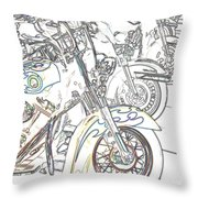 Abstract Bikes Throw Pillow