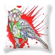 Abstract Bird 002 Throw Pillow