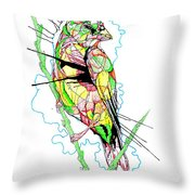 Abstract Bird 01 Throw Pillow