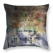 Abstract Birds In A Swirl Of Sky Colors Throw Pillow