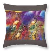 Abstract Birds Throw Pillow