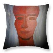 Abstract Black  Man Throw Pillow