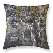 Abstract Bleeding Concrete Throw Pillow