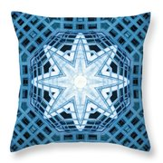 Abstract Blue 14 Throw Pillow