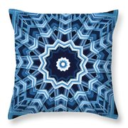Abstract Blue 16 Throw Pillow