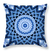 Abstract Blue 17 Throw Pillow