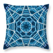 Abstract Blue 19 Throw Pillow