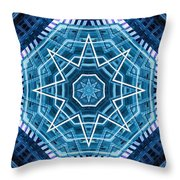 Abstract Blue 20 Throw Pillow