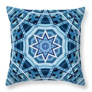 Abstract Blue 22 Throw Pillow