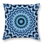 Abstract Blue 25 Throw Pillow