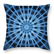 Abstract Blue 28 Throw Pillow